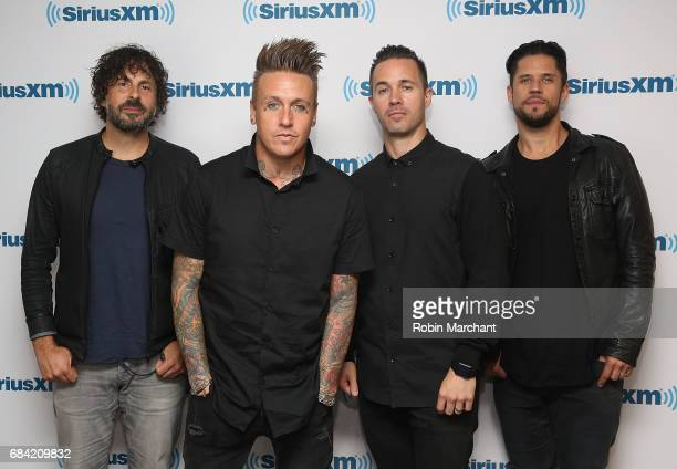 Tony Palermo Jacoby Shaddix Jerry Horton and Tobin Esperance of Papa Roach visit at SiriusXM Studios on May 17 2017 in New York City