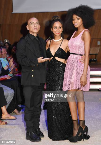 """Tony Para, Keri Lise Anderson and a model attend the """"Paris Appreciation Awards 2017"""" At The Eiffel Tower on July 8, 2017 in Paris, France. Tony..."""