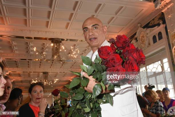 Tony Para walks the Runway during 'Fashion Night Couture' 8th Edition at Galerie de Miroirs on April 25 2018 in Paris France