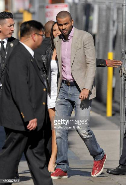 Tony Parker and Axelle Francine are seen on June 19 2014 in Los Angeles California
