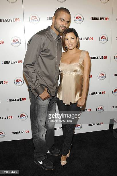 Tony Parker and Eva Longoria Parker attend Tony Parker Hosts EA Sports Launch of NBA Live 09 at Beso on September 26 2008 in Hollywood CA