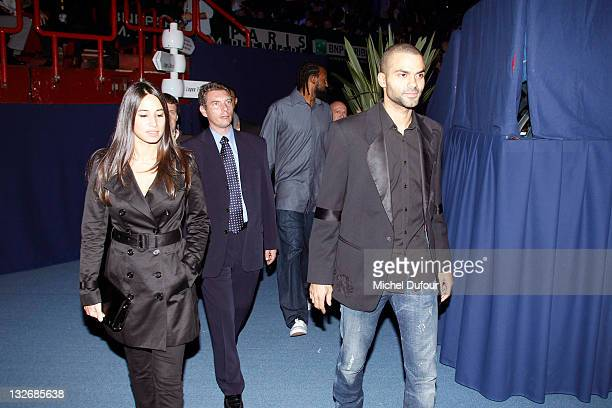 Tony Parker and guest Axelle Attend 'BNP Paribas' Tennis Masters Final in Bercy at Palais Omnisports de Bercy on November 13 2011 in Paris France