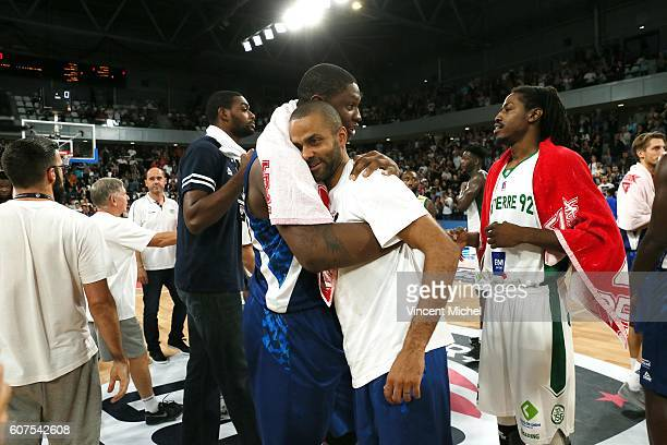 Tony Parker and Kevin Seraphin during the Appart City Cup between Hermine Nantes and Nanterre on 18th September 2016 Photo by Vincent Michel / Icon...