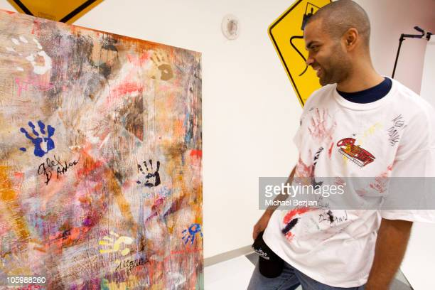 Tony Parker attends The PhotoFund Pit Stop At The 2nd Annual Rally For Kids With Cancer Scavenger Cup at Peterson Automotive Museum on October 23,...