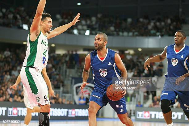 Tony Parker during the Appart City Cup match between Nantes and Nanterre at Salle Metropolitaine on September 18 2016 in Reze France