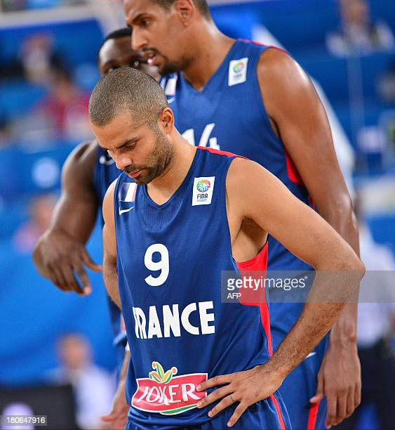 Tony Parker of France looks on during the FIBA European basketball championship second round match between Serbia and France in Ljubljana Slovenia on...