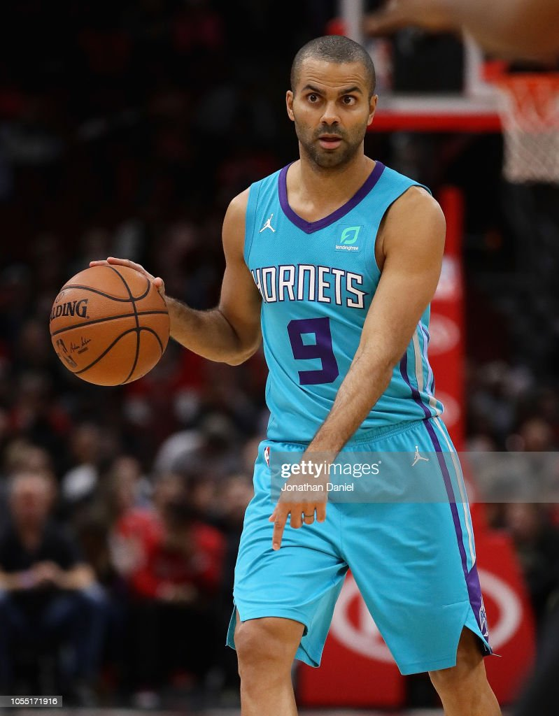 Tony Parker of the Charlotte Hornets moves against the