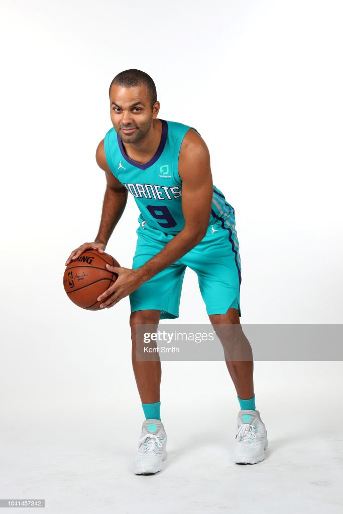 1e7ae262a13 Tony Parker of the Charlotte Hornets poses for a portrait during the ...