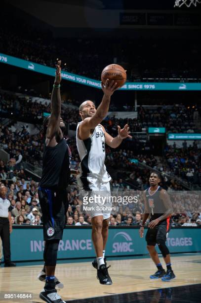 Tony Parker of the San Antonio Spurs shoots the ball against the LA Clippers on December 18 2017 at the ATT Center in San Antonio Texas NOTE TO USER...
