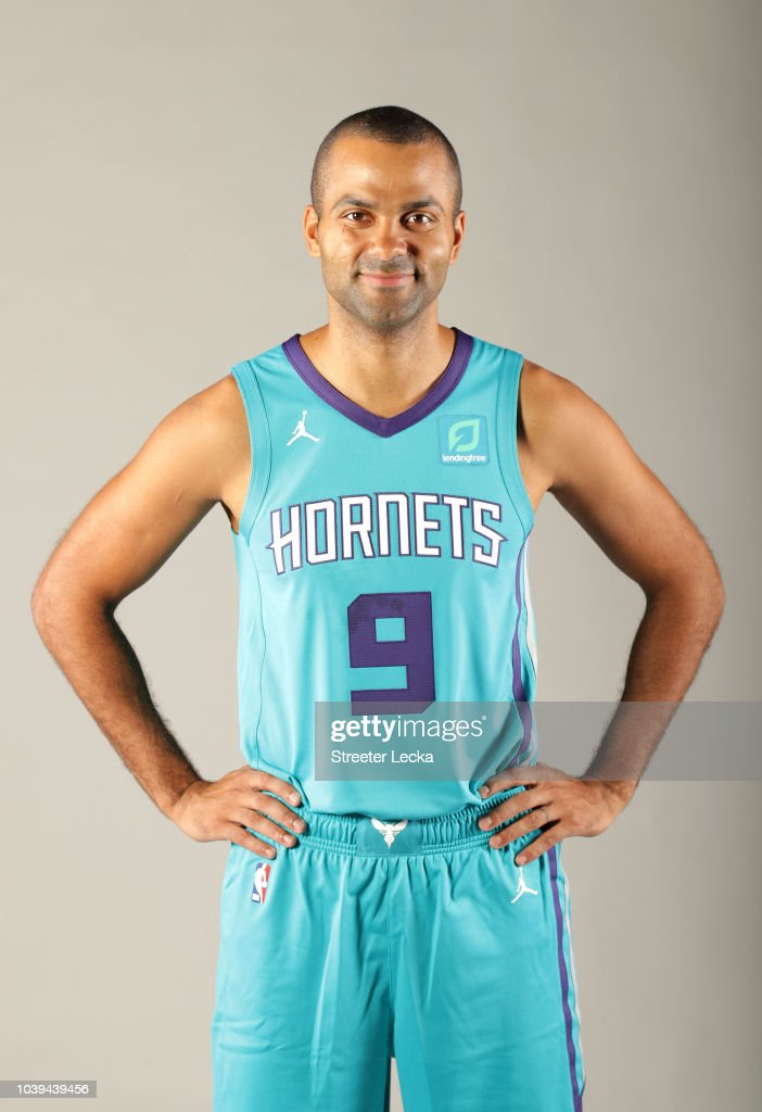 new style 75a8f 278eb Tony Parker poses for a portrait during the Charlotte ...