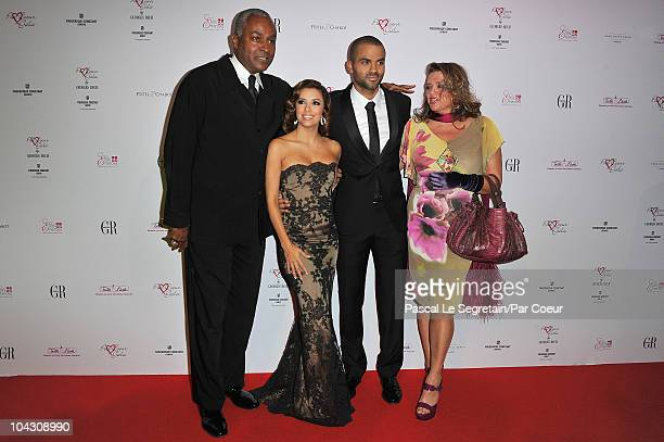 Tony Parker Senior Eva Longoria Parker Tony Parker and Pamela Firestone attend the Par Coeur Gala 2010 in collaboration with Georges Rech and...