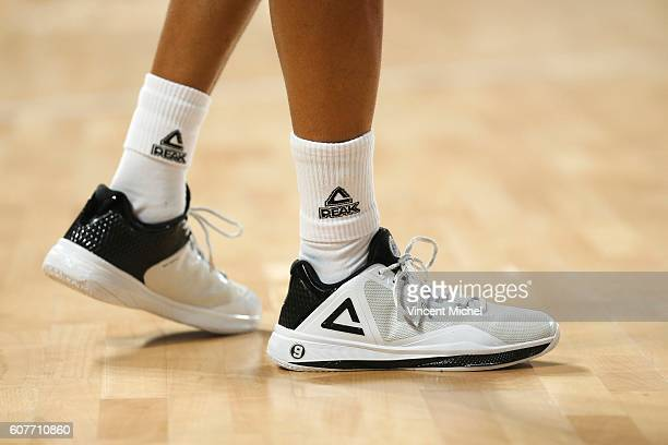 Tony Parker's shoes during the Appart City Cup match between Nantes and Nanterre at Salle Metropolitaine on September 18 2016 in Reze France