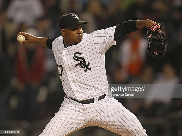 Tony Pena of the Chicago White Sox pitches in the 9th inning against the Cleveland Indians at U.S. Cellular Field on May 19, 2011 in Chicago,...