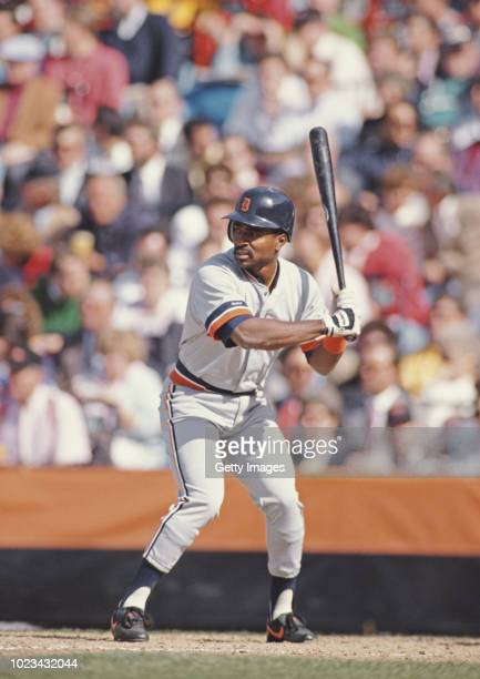 Tony Phillips Outfielder and Third Baseman for the Detroit Tigers at bat during the Major League Baseball American League East game against the...