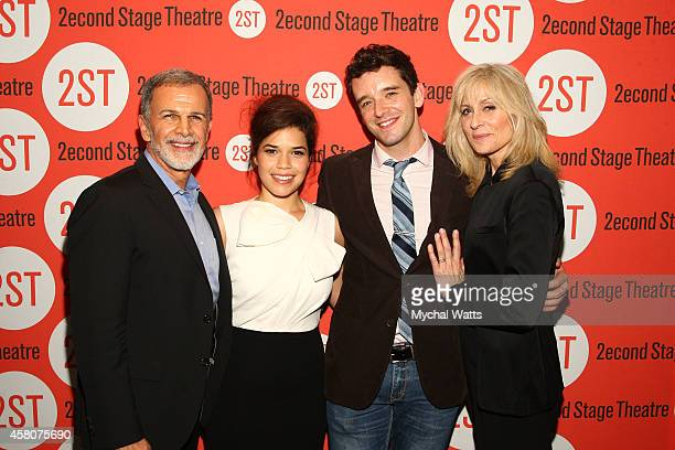 Tony Plana America Ferrera Michael Urie and Judith Light attend the opening night after party for 'Lips Together Teeth Apart' at Four at Yotel on...