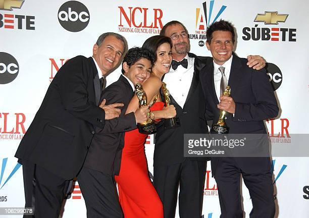 Tony Plana Mark Indelicato Ana Ortiz James Hayman and Silvio Horta winners Outstanding Television Series MiniSeries or TV Movie award for Ugly Betty