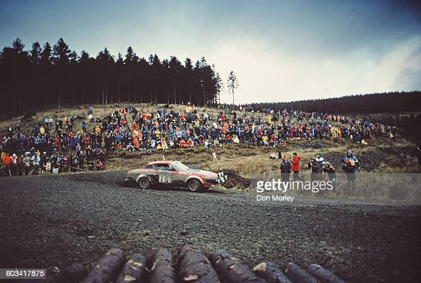 Tony Pond of Great Britain drives the British Leyland Cars Triumph TR7 with co driver Fred Gallagher during a stage of the FIA World Rally...