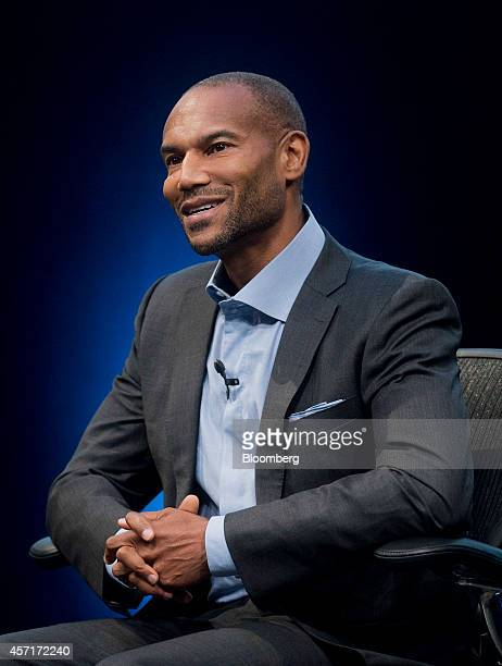 Tony Prophet, vice president of Windows marketing at Microsoft Corp., speaks during the DreamForce Conference in San Francisco, California, U.S., on...