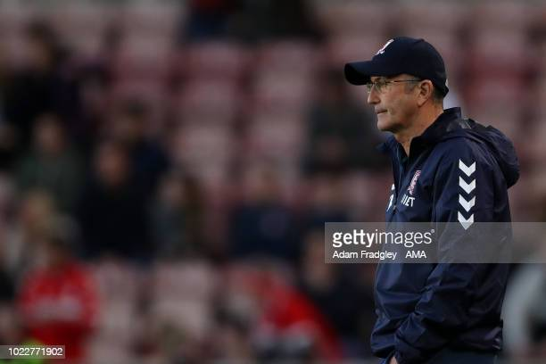 Tony Pulis Head Coach / Manager of Middlesbrough during the Sky Bet Championship between Middlesbrough and West Bromwich Albion at Riverside Stadium...