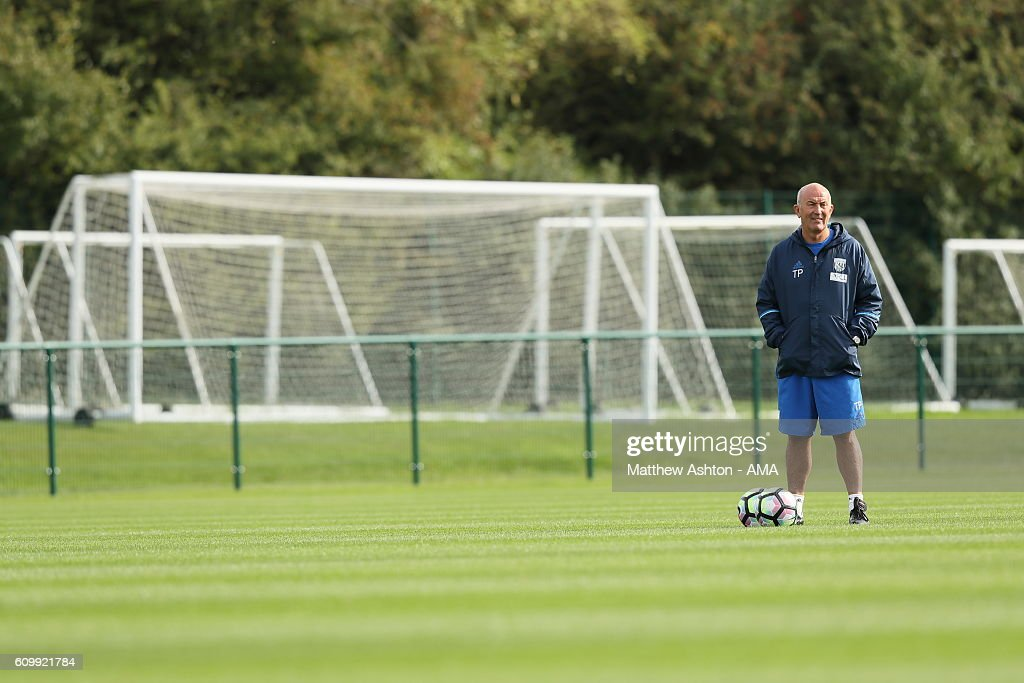 Tony Pulis Head Coach / manager of West Bromwich Albion during a training session at West Bromwich Albion Training Ground on September 23, 2016 in Walsall, England.