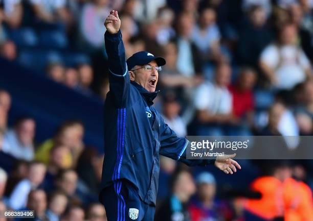 Tony Pulis Head Coach of West Bromwich Albion during the Premier League match between West Bromwich Albion and Southampton at The Hawthorns on April...