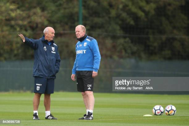 Tony Pulis manager / head coach of West Bromwich Albion and Gary Megson assistant head coach / manager of West Bromwich Albionon September 7 2017 in...
