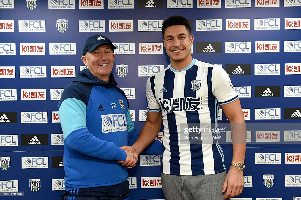 West Bromwich Albion Unveil New Signing Jake Livermore : News Photo