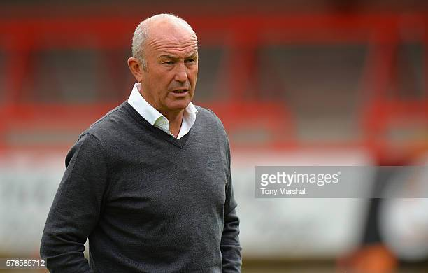 Tony Pulis Manager of West Bromwich Albion during the PreSeason Friendly match between Kidderminster Harriers and West Bromwich Albion at Aggborough...