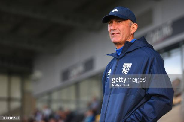 Tony Pulis manager of West Bromwich Albion looks on during the pre season friendly match between Burton Albion and West Bromwich Albion at Pirelli...
