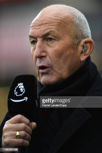 Tony Pulis speaks in a TV interview prior to the Premier League match between AFC Bournemouth and Arsenal FC at Vitality Stadium on December 26 2019...