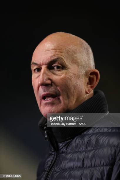 Tony Pulis the head coach / manager of Sheffield Wednesday during the Sky Bet Championship match between Huddersfield Town and Sheffield Wednesday at...