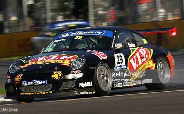 Tony Quinn in action during the Carrera Cup Race during day one of the 2006 FORMULA 1 Foster's Australian Grand Prix at Albert Park March 30 2006 in...