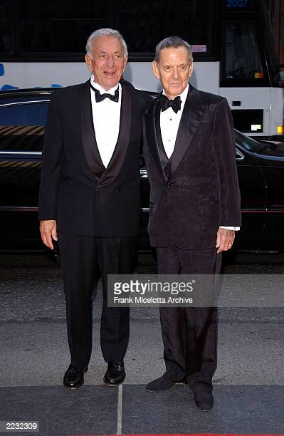 Tony Randall and Jack Klugman arrive for the NBC 75th Anniversary celebration taking place live in Studio 8H in Rockefeller Center in New York City,...