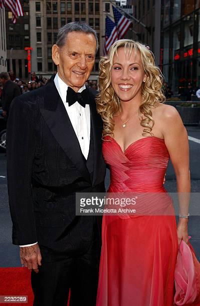 Tony Randall and wife Heather Harlan arrive for the NBC 75th Anniversary celebration taking place live in Studio 8H in Rockefeller Center in New York...
