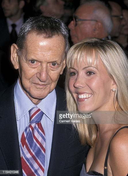 Tony Randall and wife Heather Harlan during Opening of Henrik Ibsen's Hedda Gabler at Ambassador Hotel in New York City New York United States