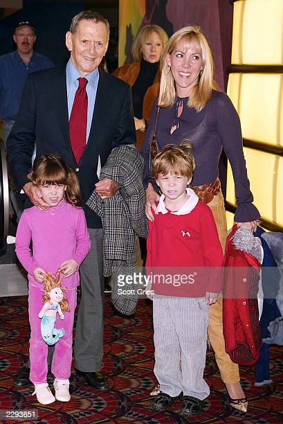 Tony Randall arrives with his wife Heather and kids Julia and Jefferson at the IMAX and Large Format release of Walt Disney Pictures' The Lion King...