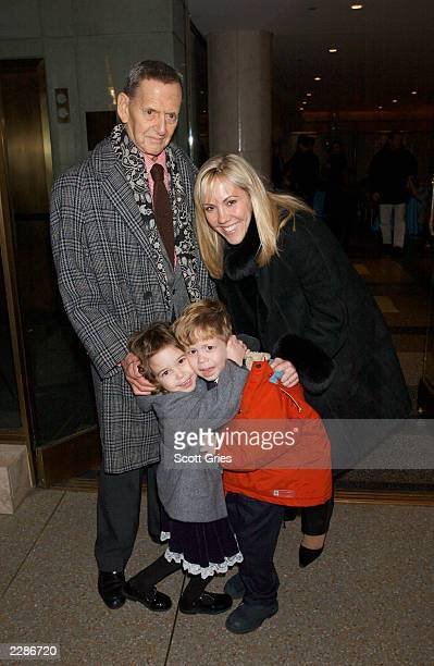 Tony Randall with his wife Heather and their children Julia and Jefferson during the party at the Rockefeller Center ice rink for the World Premiere...