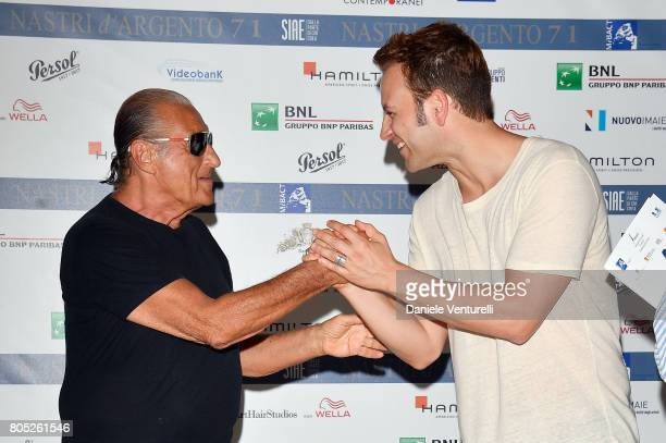 Tony Renis and Alessandro Borghi attend Nastri D'Argento 2017 Press Conference on July 1 2017 in Taormina Italy