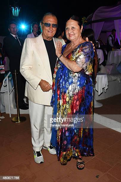 Tony Renis and Elettra Morini attend 2015 Ischia Global Film Music Fest Day 1 on July 13 2015 in Ischia Italy