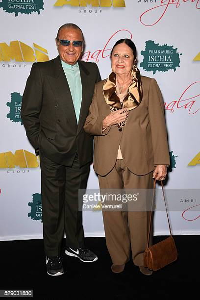 Tony Renis and Elettra Morini attend AMBI GALA in honor of Antonio Banderas and Jonathan Rhys Meyers on May 07 2016 in Rome