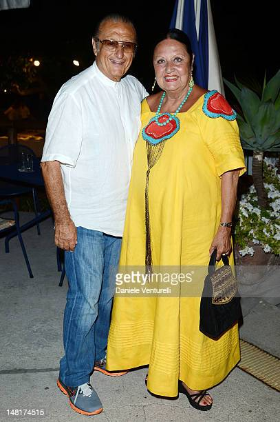 Tony Renis and Elettra Morini attend Day 4 of the 2012 Ischia Global Fest on July 11 2012 in Ischia Italy