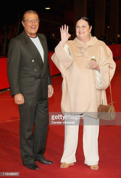 Tony Renis and Elettra Morini attend the Premiere for 'Dukes' during day 6 of the 2nd Rome Film Festival on October 23 2007 in Rome Italy