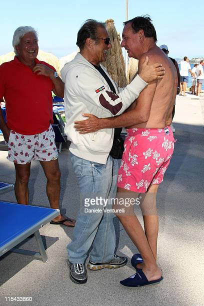 Tony Renis and Paolo Bonaiuti attend the Film and Musicischia Global Fest on July 8 2007 in Ischia Italy