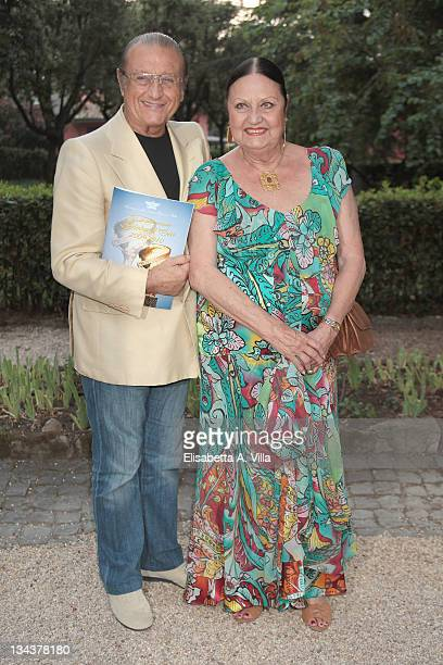 Tony Renis and wife Elettra Morini arrive at the 2010 Globo D'Oro Awards at Villa Massimo on July 1 2010 in Rome Italy