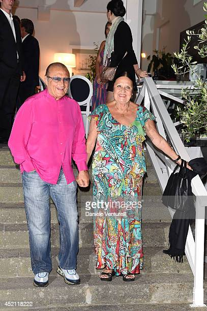 Tony Renis Elettra Morini attend Day 2 of the Ischia Global Film Music 2014 on July 13 2014 in Ischia Italy