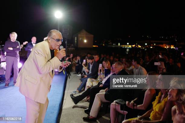 Tony Renis performs on stage during the 2019 Ischia Global Film Music Fest opening ceremony on July 14 2019 in Ischia Italy