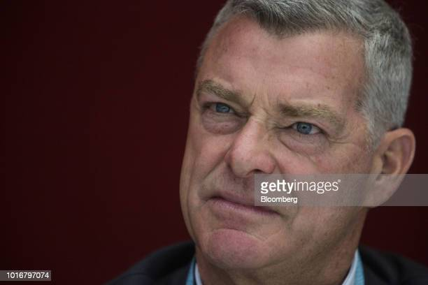Tony Ressler chairman and cofounder of Ares Management LLC listens during an interview in New York US on Tuesday Aug 14 2018 Ares Management is an...