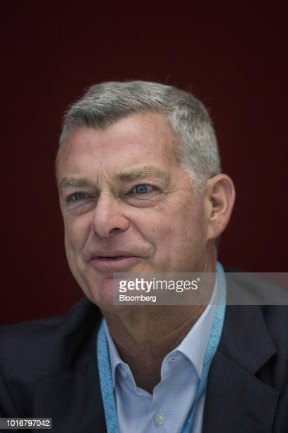 Tony Ressler chairman and cofounder of Ares Management LLC speaks during an interview in New York US on Tuesday Aug 14 2018 Ares Management is an...