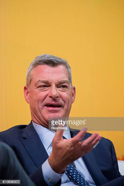 Tony Ressler cofounder chairman and chief executive officer of Ares Management LP speaks during the Bloomberg Markets Most Influential Summit in New...