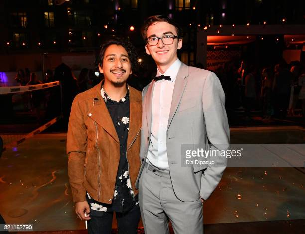 Tony Revolori and guest at Entertainment Weekly's annual ComicCon party in celebration of ComicCon 2017 at Float at Hard Rock Hotel San Diego on July...